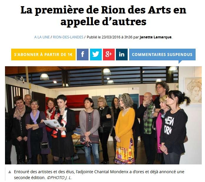 Rion des arts 2016