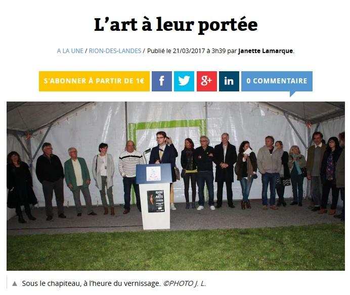 Rion des arts 2017